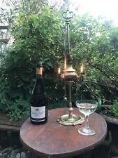 Whale Oil Lamp ANTIQUE 18th 19thc  BRASS Garden Jewellery Hanger Dish Display
