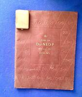 ORIGINAL BOOK STORY OF  DUNLOP & MATCHBOOK HOLDER VESTA CASE BRASS