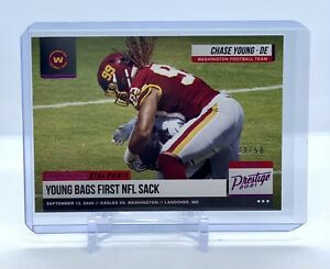 2021 Prestige Chase Young -  Highlight Reel - Xtra Points - Pink Parallel #/50