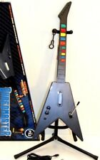 PS4 PS3 NEW IOB Rock Band SHREDMASTER Wired Guitar*Carbon-Fiber Body*Usb Adapter
