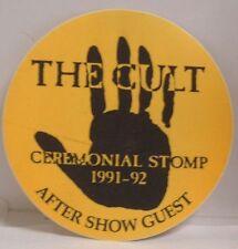 The Cult - Original Tour Cloth Concert Backstage Pass