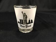 Vintage New York City Frosted Collectible Shot Glass 2-1/4""