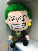 One Piece Roronoa Zoro Plush Doll Kids Soft Stuffed Toy Great Xmas Gift 30cm