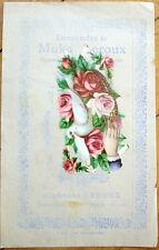 1900 Chicoree/Moka Advertising w/Victorian Diecut Scrap: Dove & Flowers - 18