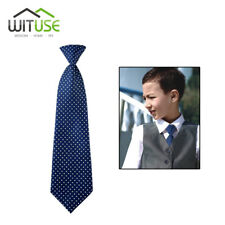 Blue Dot School Boys Children Kids Elastic Necktie Wedding Tie 5280496