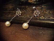 Vintage Butler & Wilson gota de perla pendientes perforados