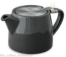 GRAPHITE BLACK SUKI FORLIFE 18oz (530ml / 2 CUP) LOOSE LEAF TEAPOT - FOR LIFE