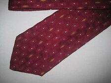 Mens Red Print Silk Tie Necktie Platinum ~(3563) FREE US SHIP