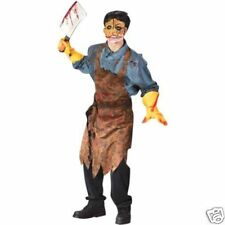 Butcher Leatherface Chainsaw Bloody Apron Teen Costume