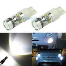 2Pcs High Power 42SMD 100W 7443 LED Bulbs For Fiat 500 Daytime Running Light