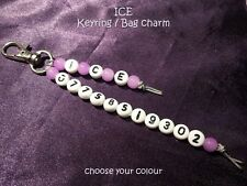 In Case of Emergency / ICE / SOS Clip on Charm - choice of colour