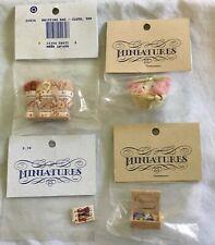 Dollhouse Miniature Knitting Basket / Yarn / Cloth bag / Button Box / pattern +