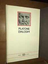 PLATONE - DIALOGHI - EINAUDI, I MILLENNI - 1970
