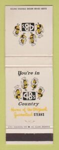 Matchbook Cover - 4B's Country Restaurant