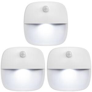 3*LED PIR Infrared Motion Sensor Wireless Night&Light Battery Cabinet Stair Lamp