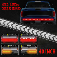 """Truck Tailgate Strip 40"""" LED Sequential Turn Signal Brake Tail Reverse Light Bar"""