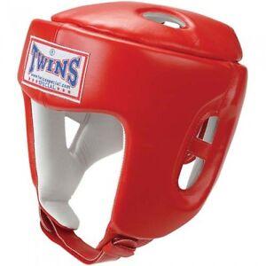Twins - Pro-Kopfschutz. HGL 4 Rot. S-L. Muay Thai. MMA. Kickboxen. Boxen.