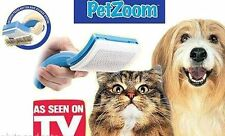 PetZoom Self-Cleaning Grooming Brushes For Pets Cats & Dogs