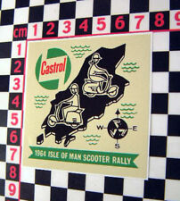 Vintage Style Isle of Man Scooter Sticker 1964 - Vespa Lambretta ISO Mods