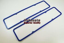 SBC Chevy 283 305 327 350 400 Valve Cover Blue Rubber w/steel Gasket Small Block