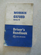 Original 1964 Morris Oxford Series VI automobile owner's manual
