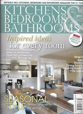 Kitchen Bedrooms and Bathrooms magazine Seasonal style Walk in wardrobes Showers