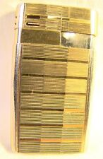 Nice Colibri Gold Striped Pattern Spark Generator Butane Lighter Refillable