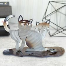 Hand-Forged Wrought Iron Cat Sculpture - Cat Memorial - Pet Loss Gifts