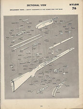 1964 Remington Nylon 66 Rifle Schematic Exploded View Parts List 2-page Ad
