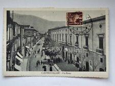 CASTROVILLARI via Roma animata Cosenza vecchia cartolina