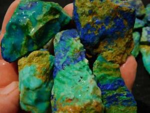 RimRock: 1.70 Lbs ARIZONA AZURITE IN CHRYSOCOLLA Rough Pieces