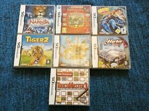 7  EMPTY NINTENDO DS GAMES BOXES (6 WITH MANUALS)