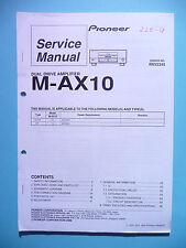 Service Manual Pioneer M-AX10 ,ORIGINAL
