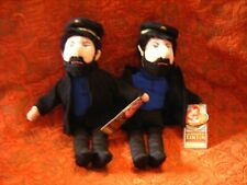 "2X Ty Tintin Captain Haddock ty beanies 2011 soft toy 11"" approx with tags (B143"