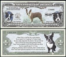 BOSTON TERRIER VERSION 2 DOG COLLECTOR NOVELTY BILL/MONEY SINGLE WITH HOLDER!