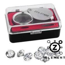 Jewelers Eye Loupe Magnifier Magnifying Glass Foldable Jewelry Diamond 20x21mm
