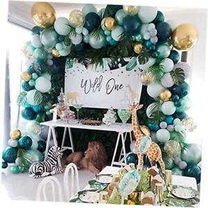 Jungle Safari Theme Baby Shower Decorations Boy - Balloon Garland Arch Kit,