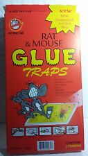 RAT & MOUSSE GLUE TRAPS  NO WAY OUT LARGE TRAPS NOW GUARANTEED TO CATCH MICE