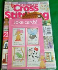 "NEW/SEALED! ""The World of Cross Stitching""  #160  - UK Magazine w Enclosed Gift"