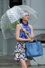 "X2 Large 31"" Clear See Through Dome Umbrella Ladies Transparent Walking Rain"