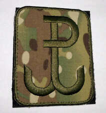 """Polish ARMY PATCH worn on arm ANCHOR special force GROM """"PW - Polish Fighting"""" c"""