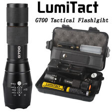 Bright 12000lm Lumitact G700 Tactical Flashlight Military Grade Torch 2xBattery