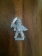 Iron Claw Gothic  Dwarf With Sword & Mace  Rare 80s Metal Games Workshop Dwarves