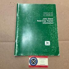 John Deere Product Information Manual Row Crop Tractors 4050 4250 4450 4650 4850