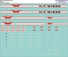 H0-Komplettbeschriftung für Wiebe V100 (2 Varianten) - 087-5880 TOP Neu