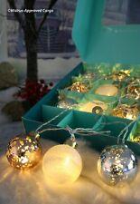 Anthropologie Mercury Ball String Lights (Silver, Copper, White) -Nib- Beautiful