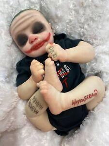 REBORN BABY BOY ART DOLL JOKER INSPIRED FANTSY DOLL. WHY SO SERIOUS?