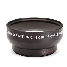 49mm 0.45x Wide Angle Lens F Sony Nex-3 Nex-5 6 7 Canon Nikon Fuji Camera Black
