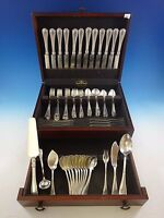 "Hepplewhite by Reed & Barton Sterling Silver Flatware Set 102 Pieces ""S"" Mono"
