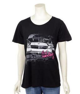 2015-2021 Mustang Ladies Womens Black & Pink T-Shirt Woman's XL Extra Large